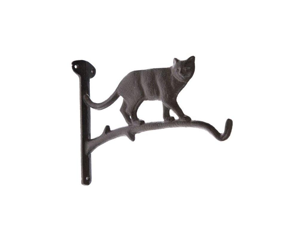 litinová hák věšík kočka s kočkou kočičí