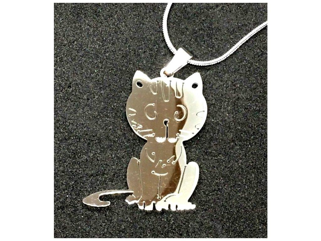 přívěsek kočka s kočkou kočičí ocel