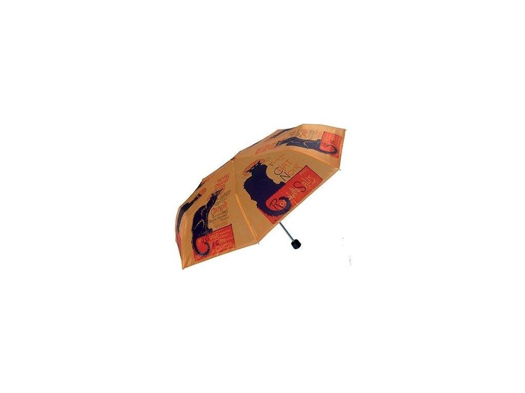 deštník skládací kočka s kočkou chat noir