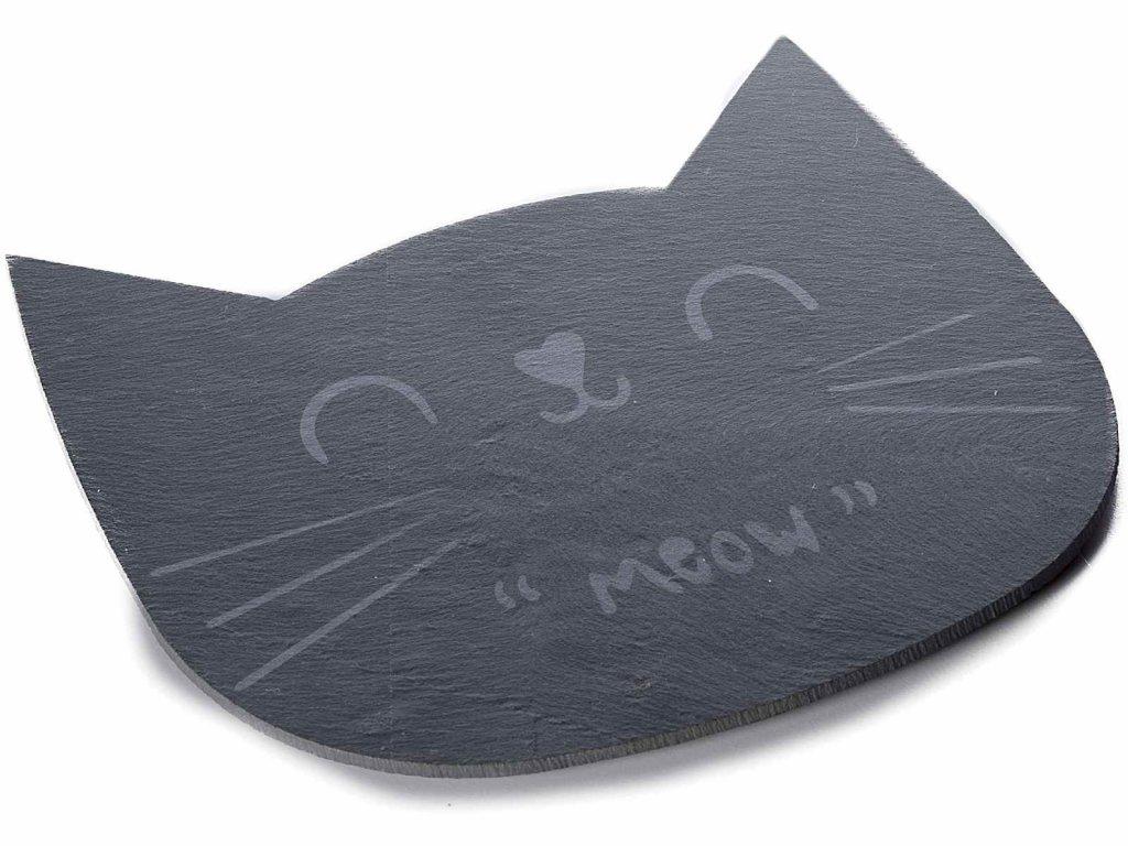 prkénko kočka s kočkou kočičí břidlicové kamenné
