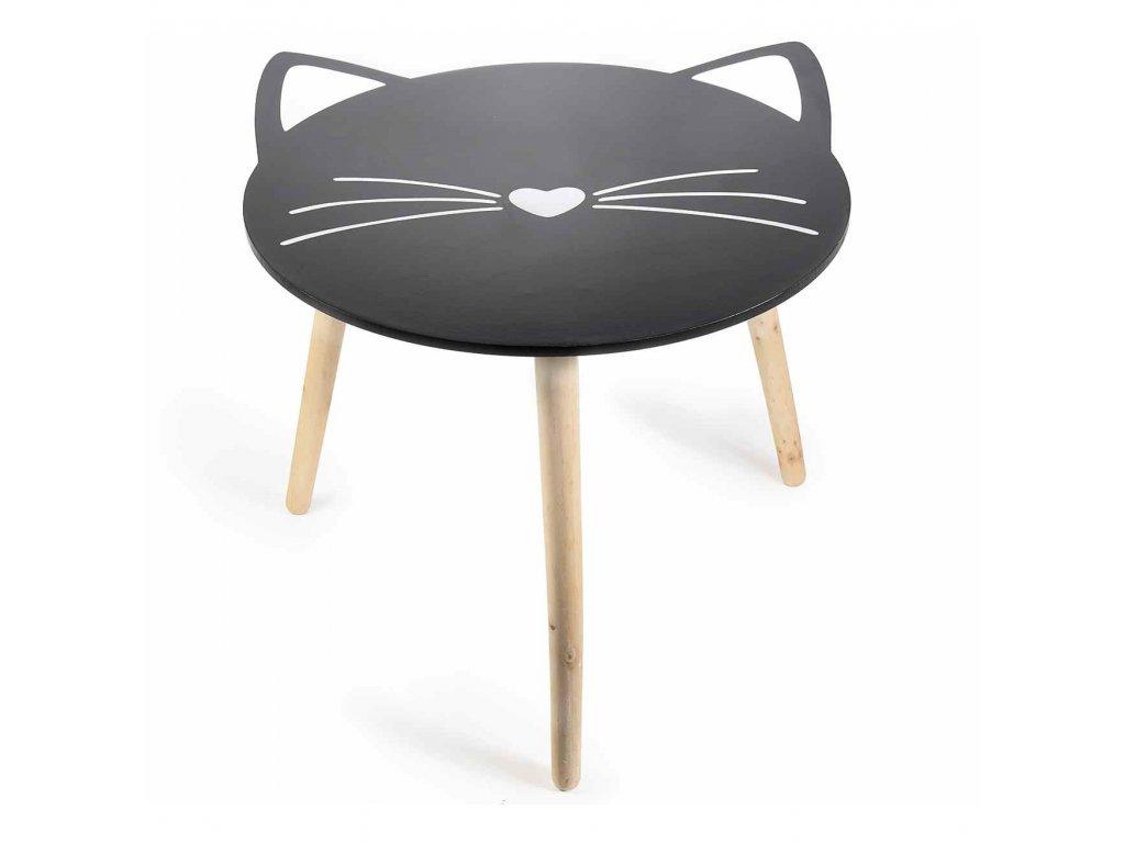 stolek kočka s kočkou kočiči černá odkládací