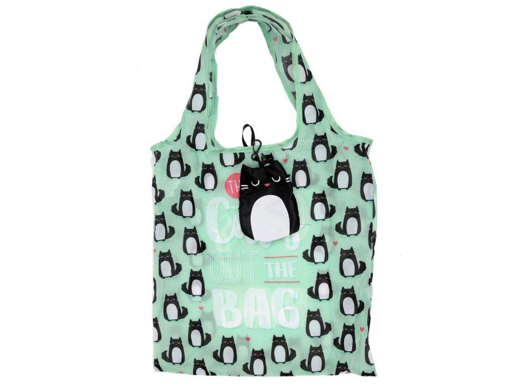skládací taška kočka s kočkou kočičí do kabelky 3