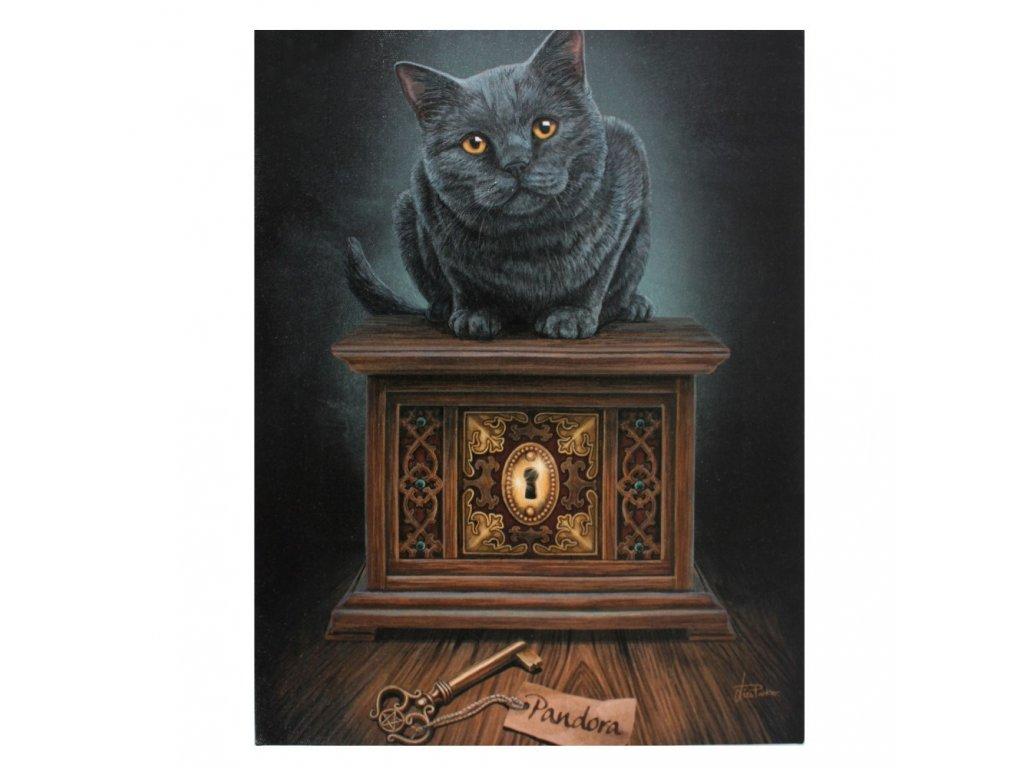 obraz kočka s kočkou kočičí pandořina skříňka lisa parker