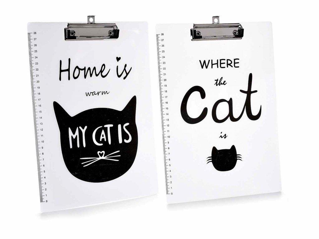 desky s kovovým klipem kočka s kočko kočičí