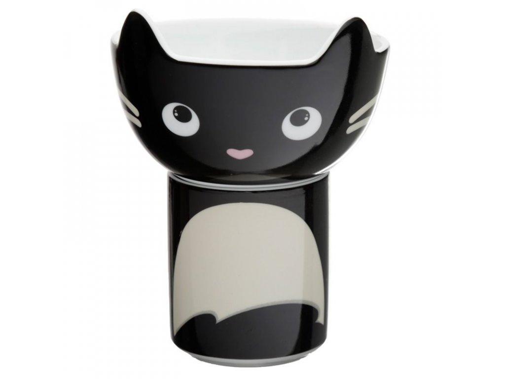 porcelánový set miska hrnek kočka s kočkou kočičí