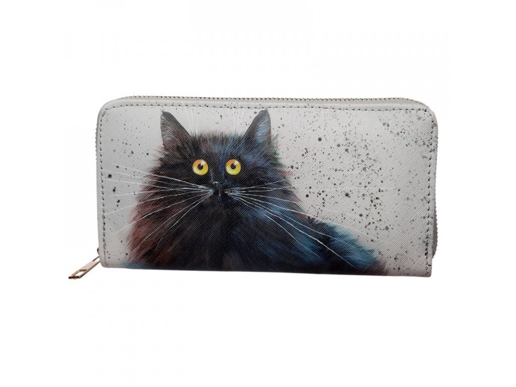 peněženka kočka s kočkou kočičí kim haskings