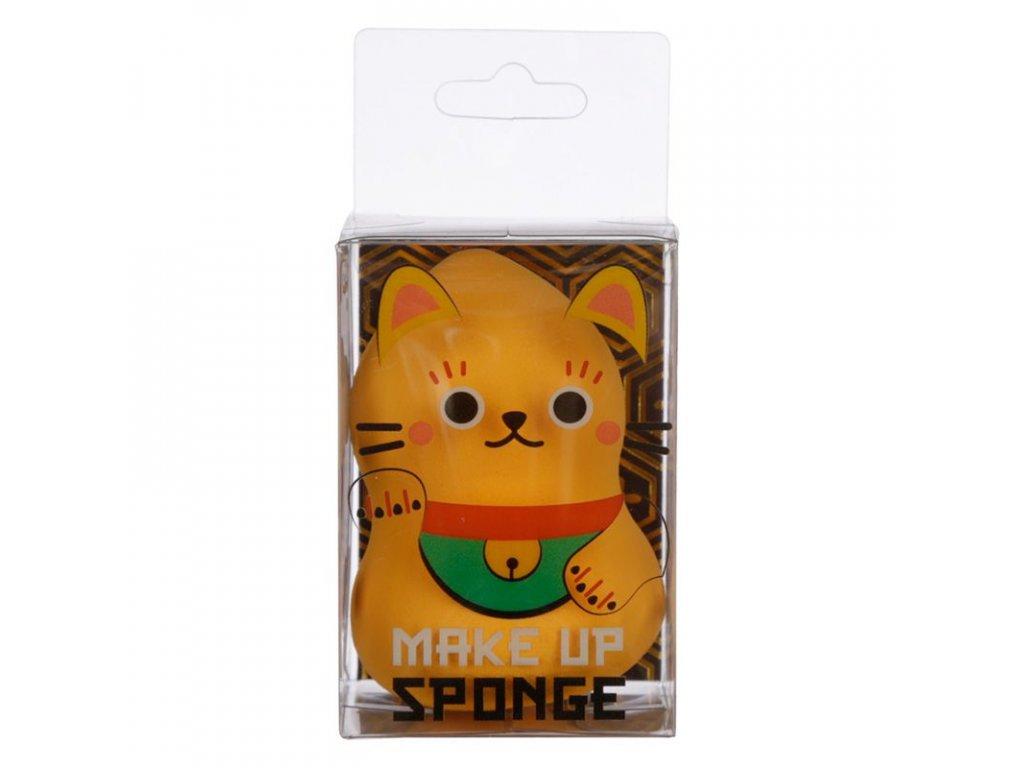 houbička na kosmetiku makeup kočka s kočkou kočičí