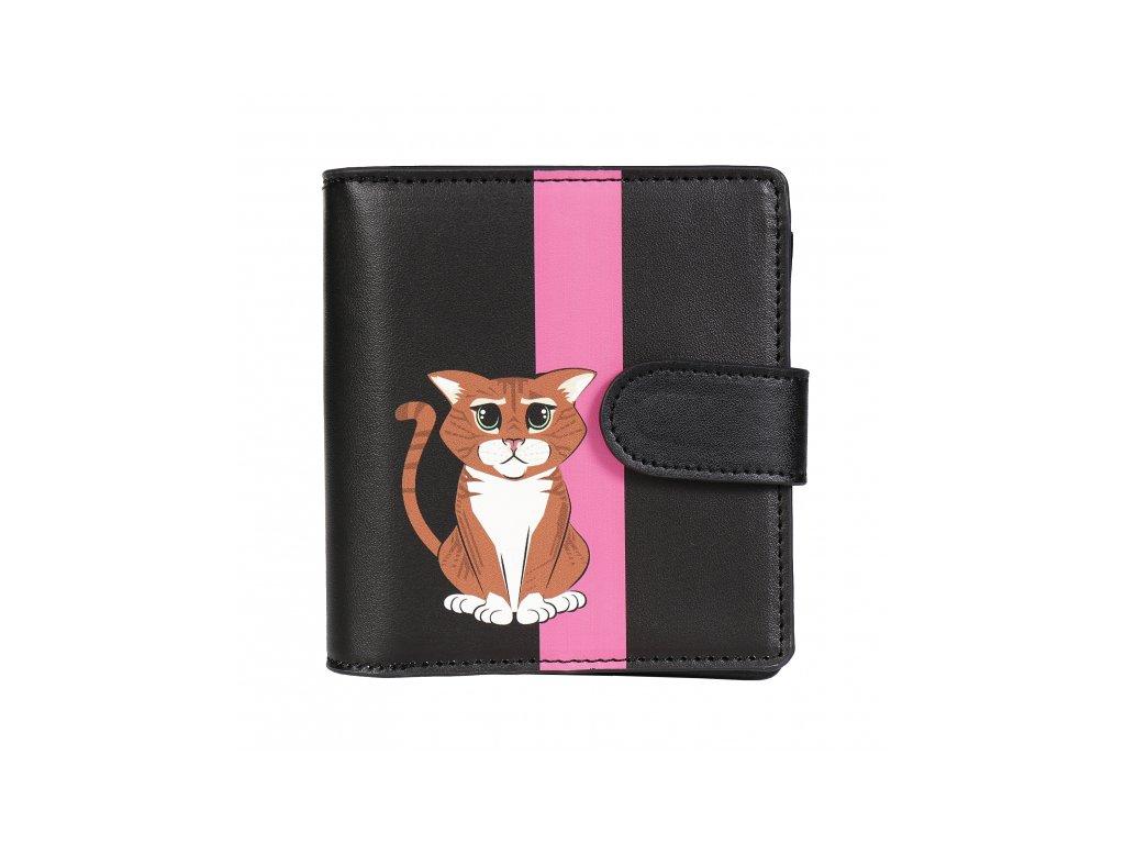 peněženka kočka s kočkou kočičí koženková