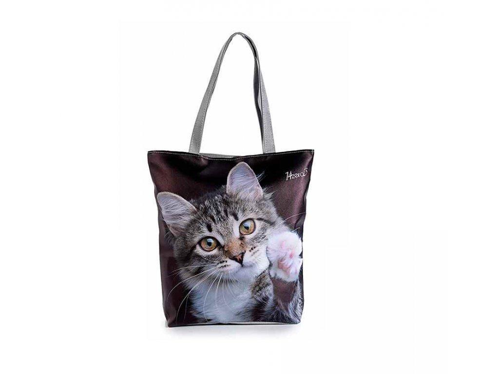 koženková velká kabelka kočka s kočkou kočičí tlapka