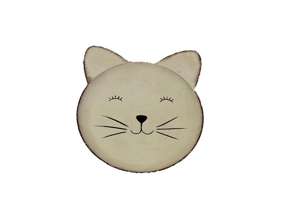 tácek kočka s kočkou kočičí plechový 1