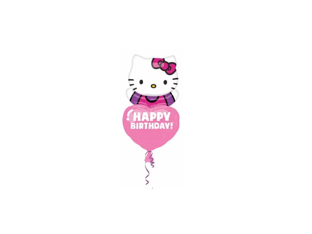 balonek kočka s kočkou kočičí hello kitty srdce