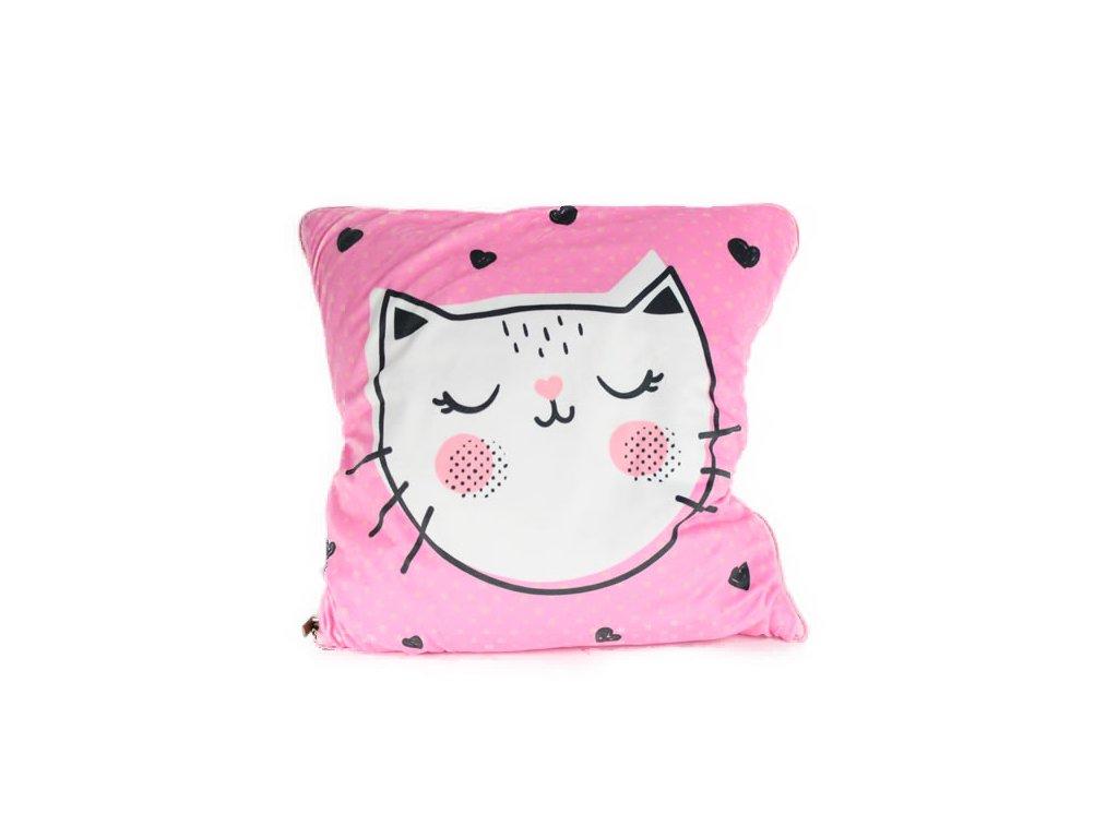 deka v polštáři kočka s kočkou kočičí