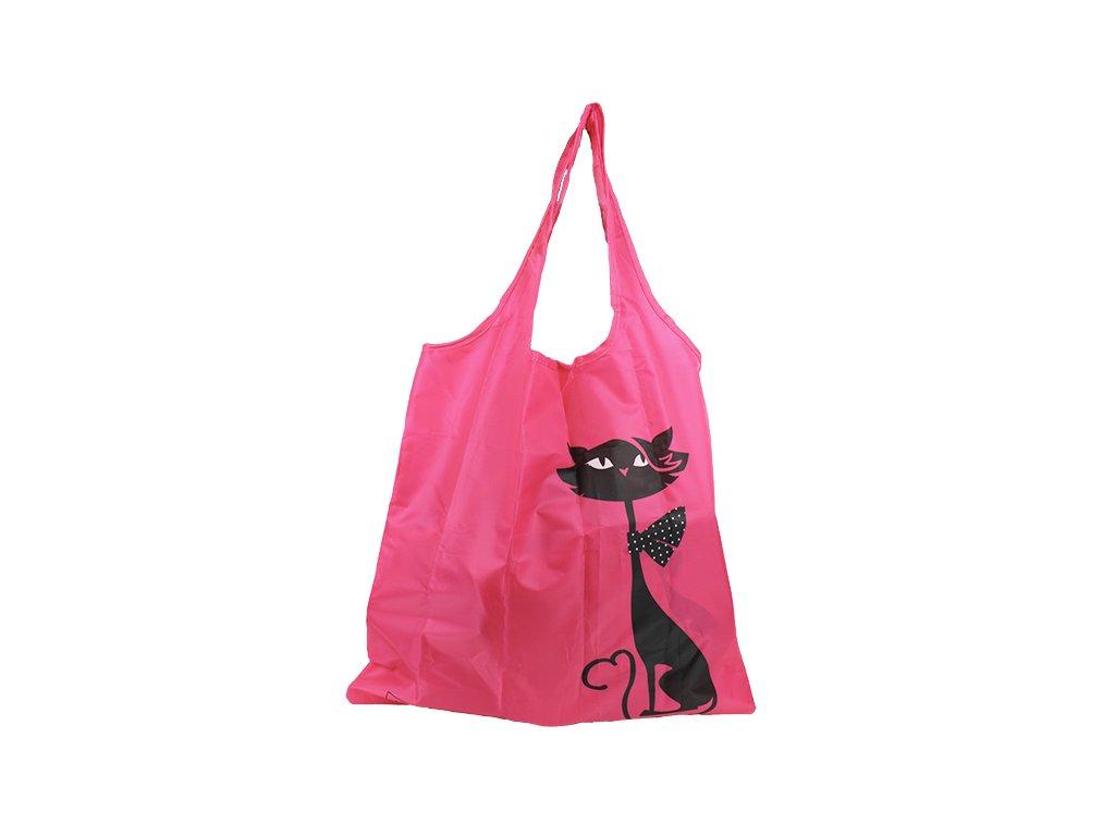 nákupní taška skládací kočka s kočkou kočičí