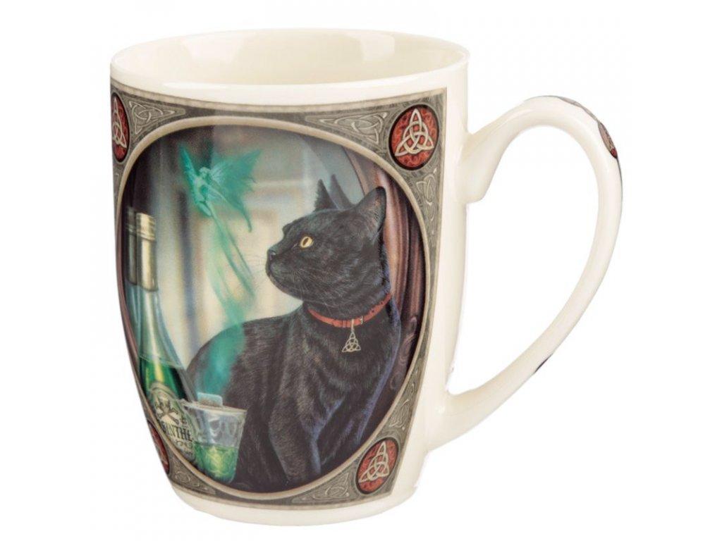 hrnek porcelán šálek kočka s kočkou kočičí lisa parker