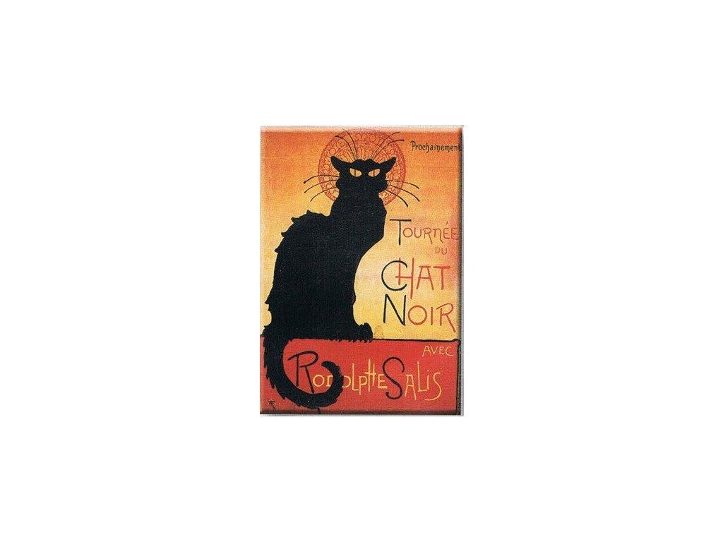 magnetka kočka s kočkou kočičí chat noir