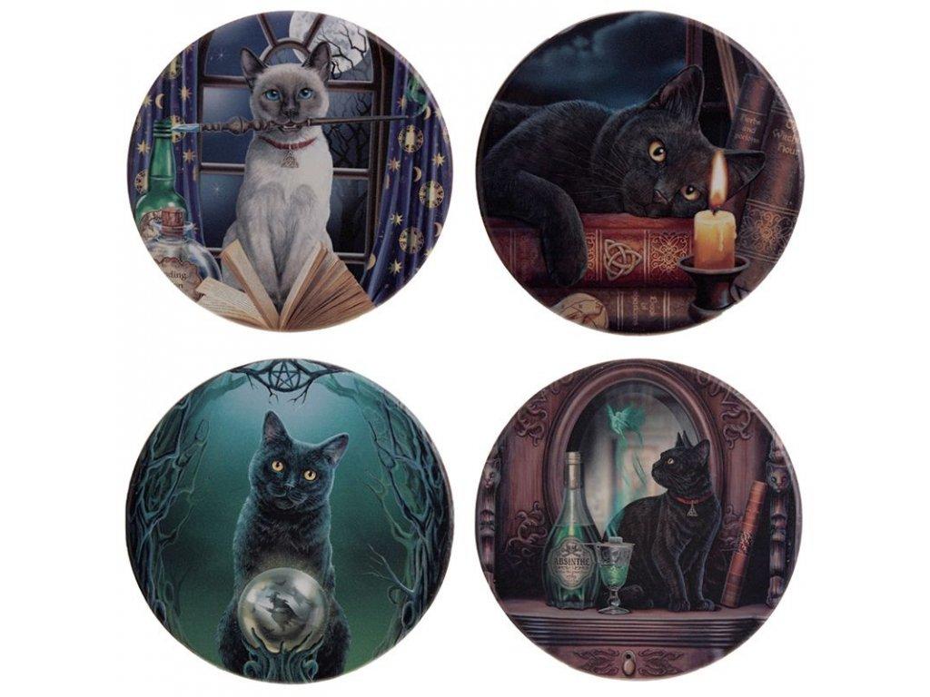 sada 4 podtácků lisa parker kočka s kočkou kočičí