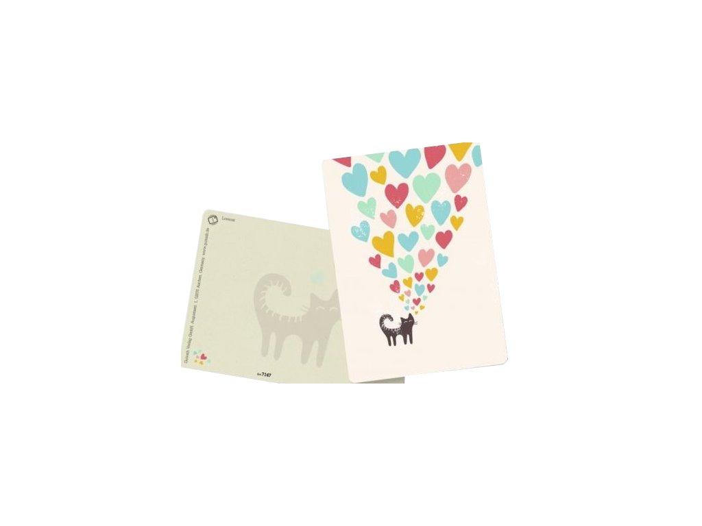 přání kočka s kočkou kočičí balonky