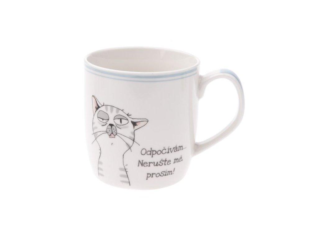 hrnek kočka s kočkou kocourem a nápisem