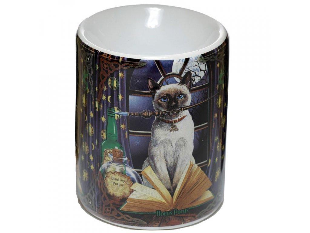 aromalampa kočka s kočkou kočičí lisa parker čarodějka
