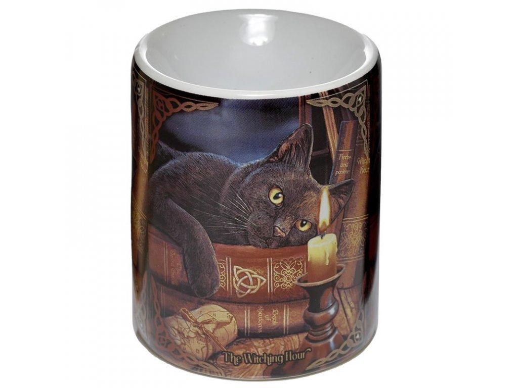 aromalampa kočka s kočkou kočičí lisa parker s knihami