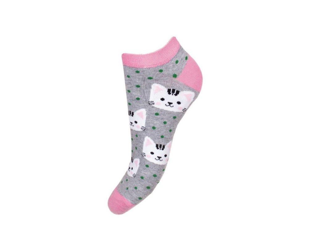 ponožky nízké kočka s kočkou kočičí 2