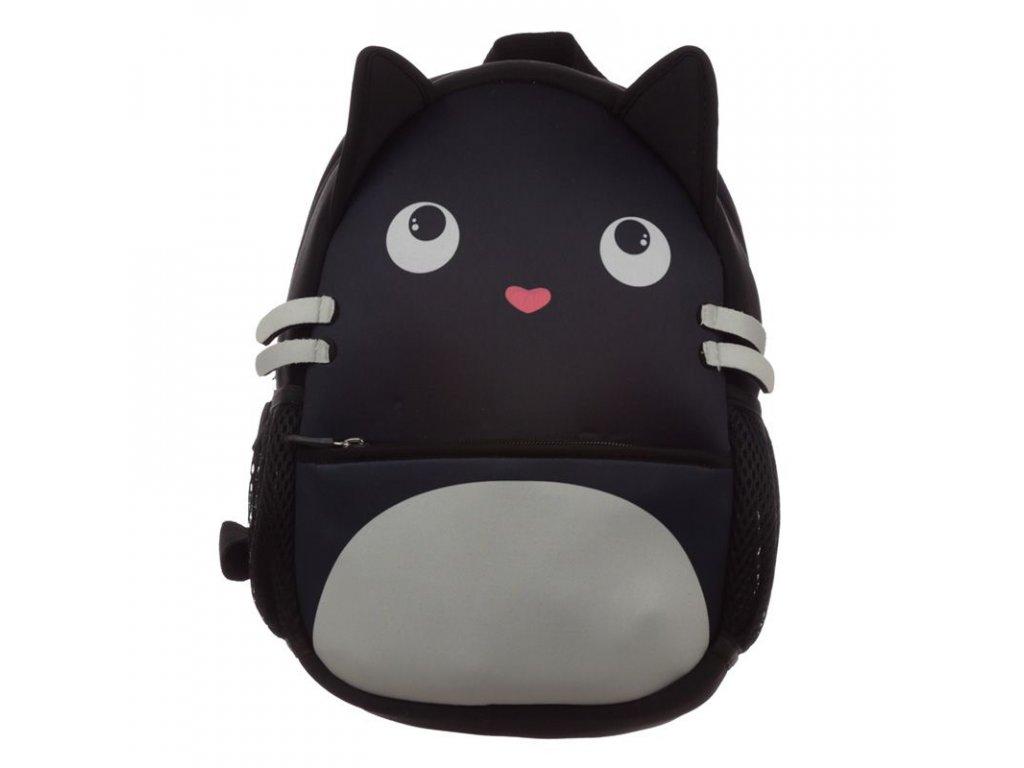 batoh kočka s kočkou kočičí černý neopren
