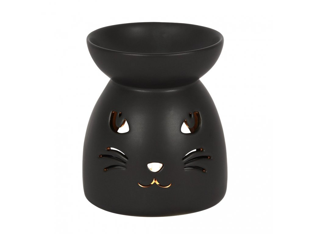 aromalampa kočka s kočkou kočičí černá oči