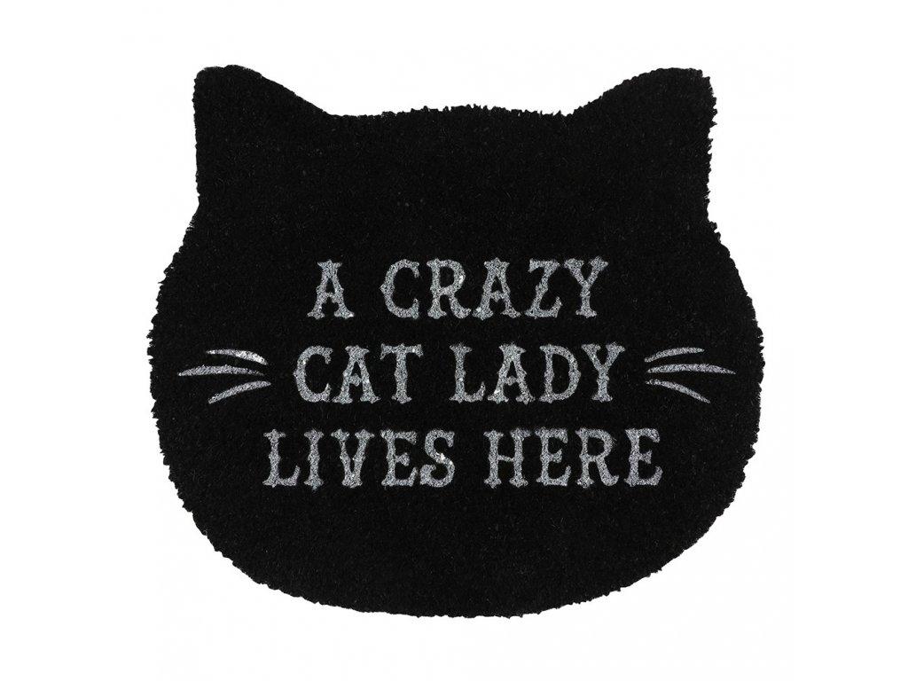 rohožka kočka s kočkou kočičí černá crazy cat lady