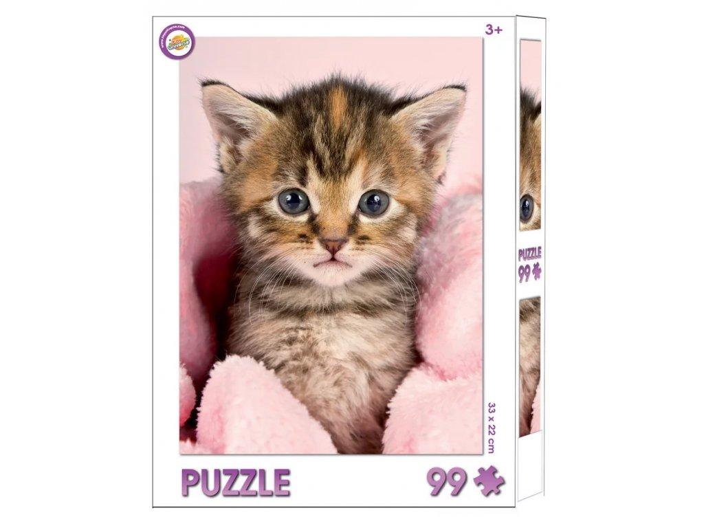 puzzle kočka s kočko kočičí kotě