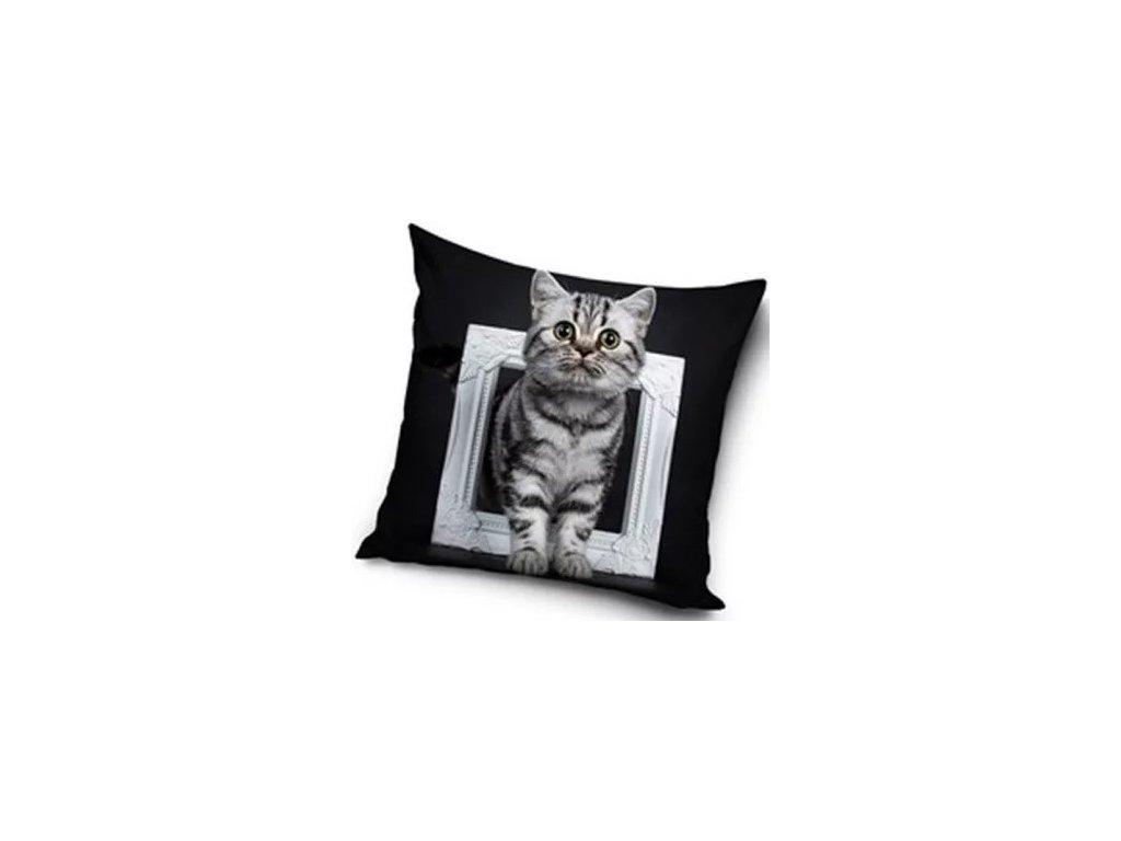 povlak na polštář kočka s kočkou kočičí 40 x 40