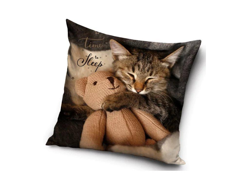 povlak na polštář kočka s kočkou kočičí 40 x 40 2