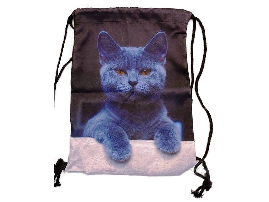batoh kočka s kočkou kočičí šňůrky 4