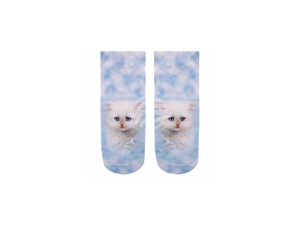 ponožky kočka s kočkou kočičí bílé kotě