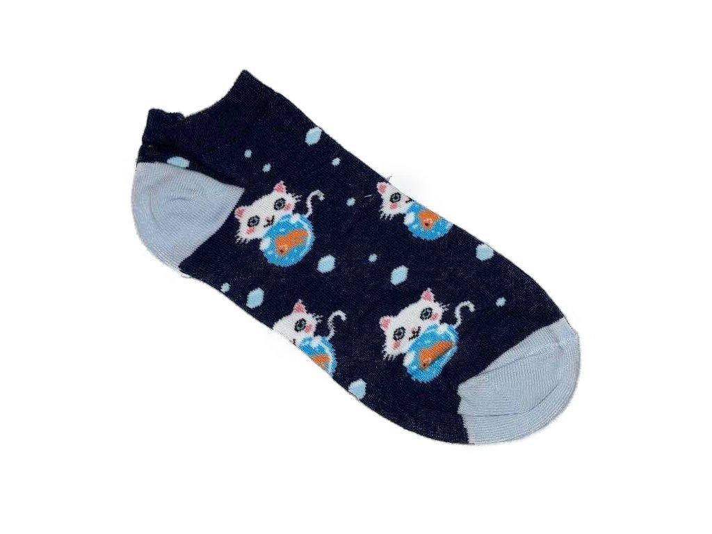 ponožky nízké dámské kočka s kočkou kočičí 2