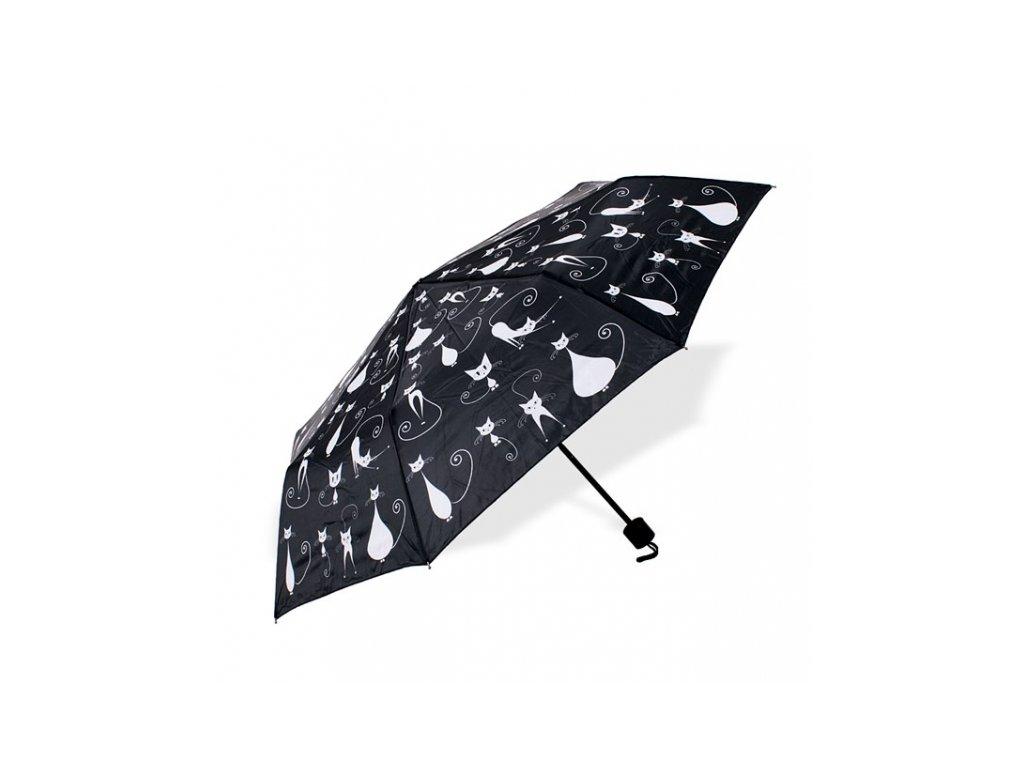 deštník kočka s kočkou kočičí černý 2
