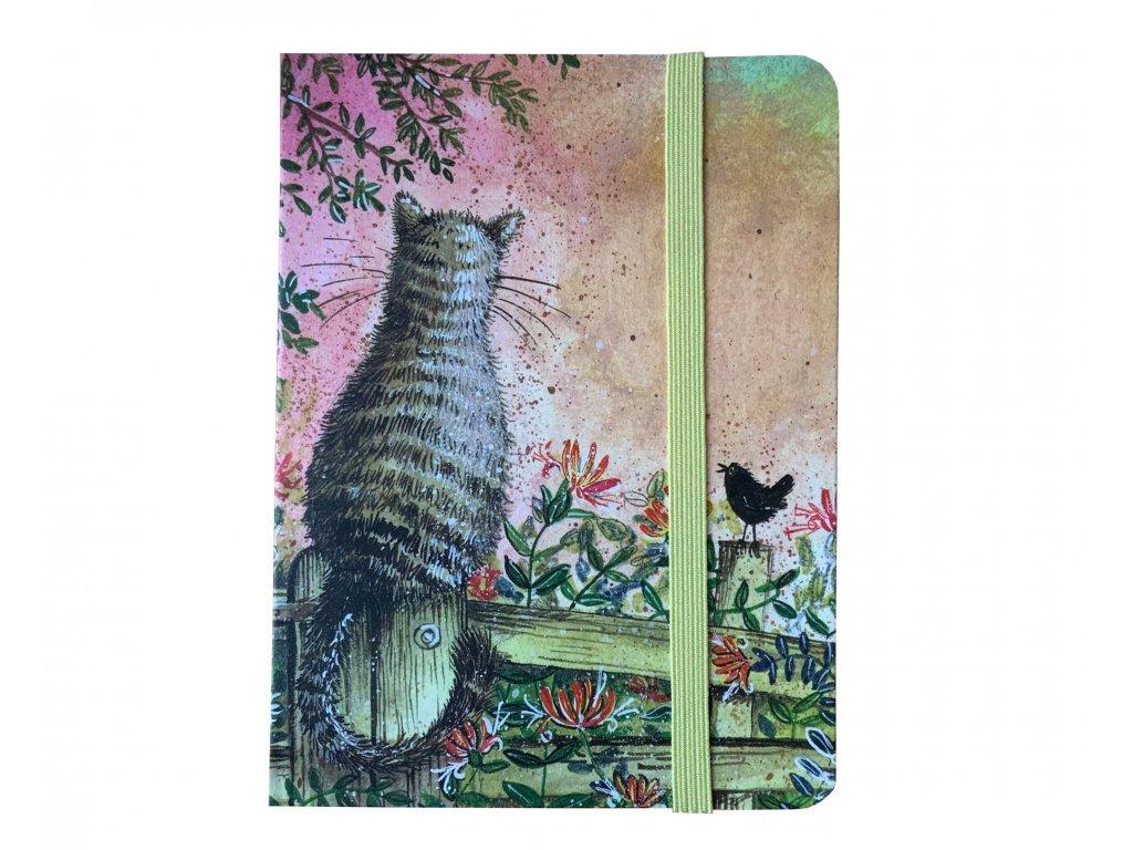 zápisník deník diář kočka s kočkou kočičí alex Clark