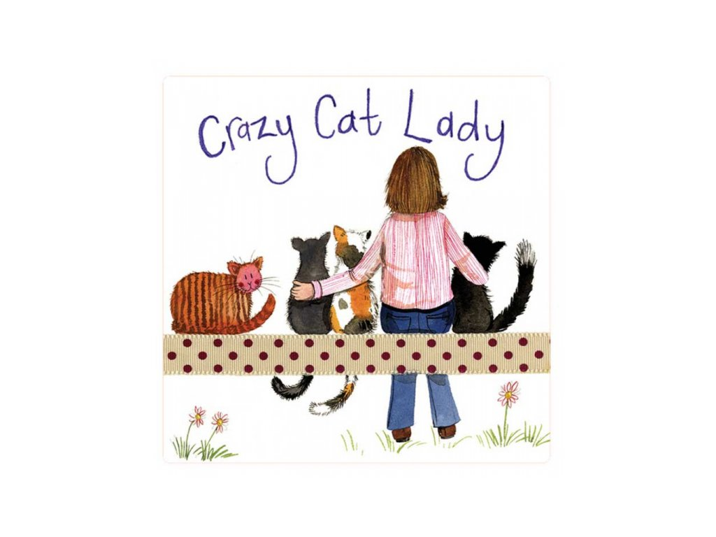 magnetka kočka s kočkou kočičí alex clark kočičí paní