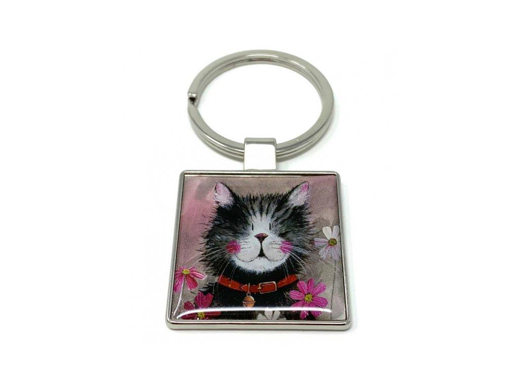 klíčenka kočka s kočkou kočičí kocour alex clark