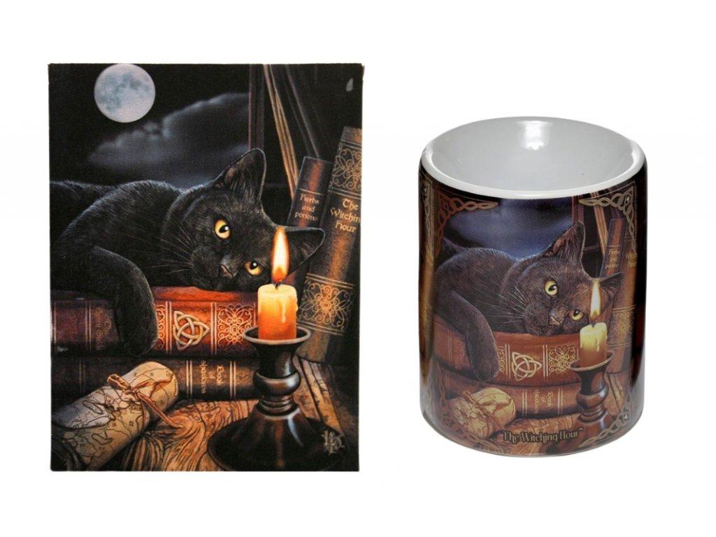 dárková sada kočka s kočkou kočičí svíčka knihy Lisa Parker