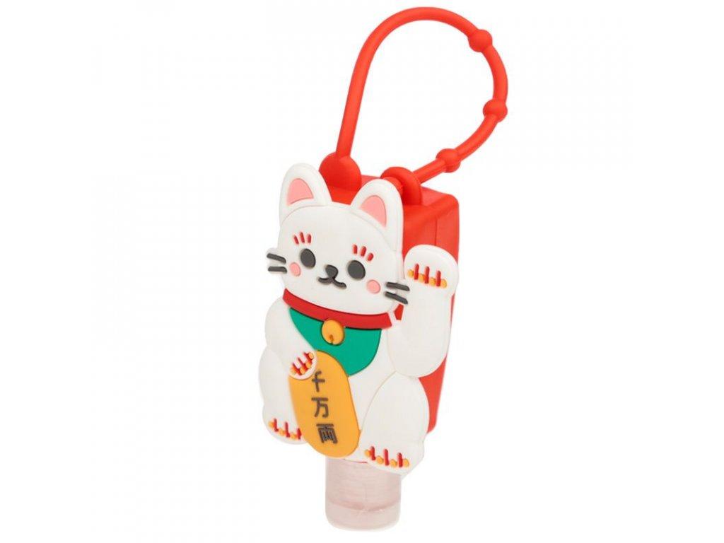 dezinfekce na ruce do kabelky kočka s kočkou kočičí Maneki Neko