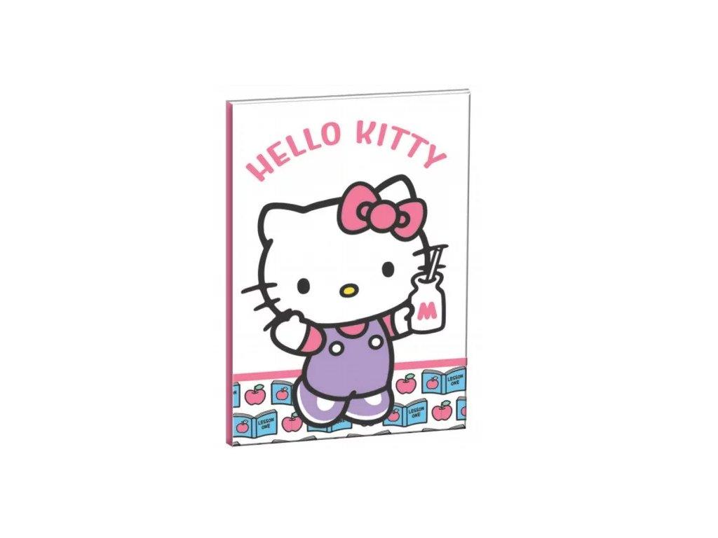 sešit blok notes diář kočka s kočkou kočičí Hello Kitty