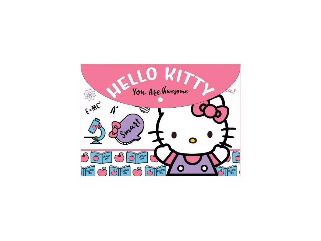 plastová obálka pouzro kočka s kočkou kočičí Hello Kitty