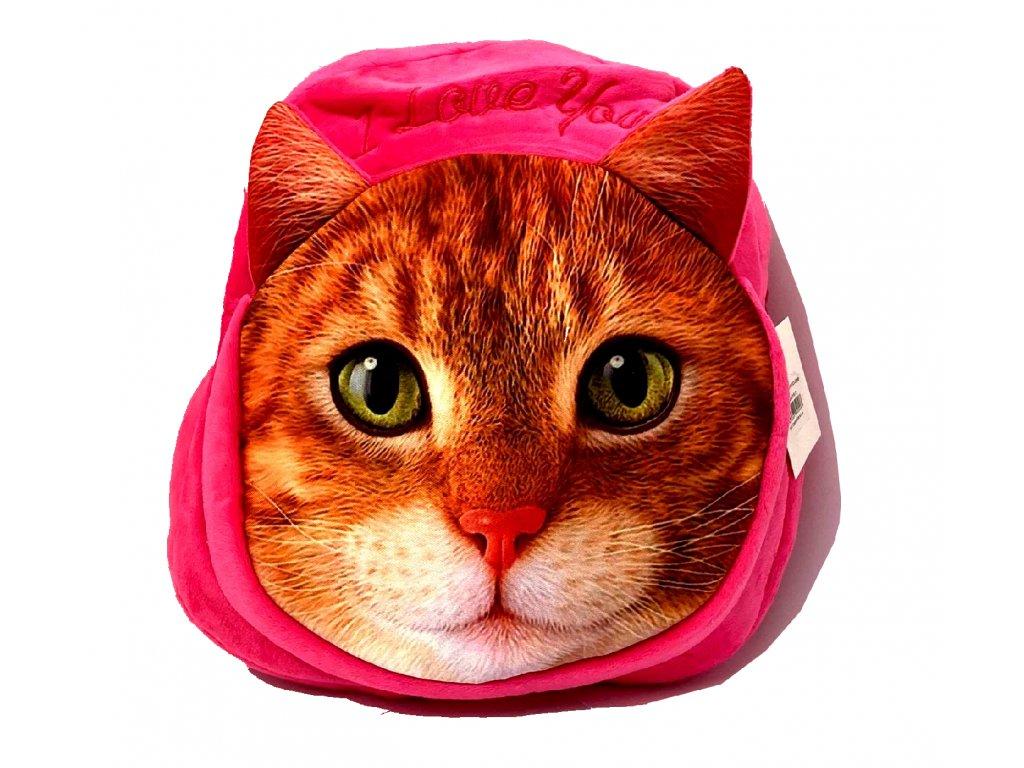 batůžek plyšová kočka s kočkou kočičí kotě 3