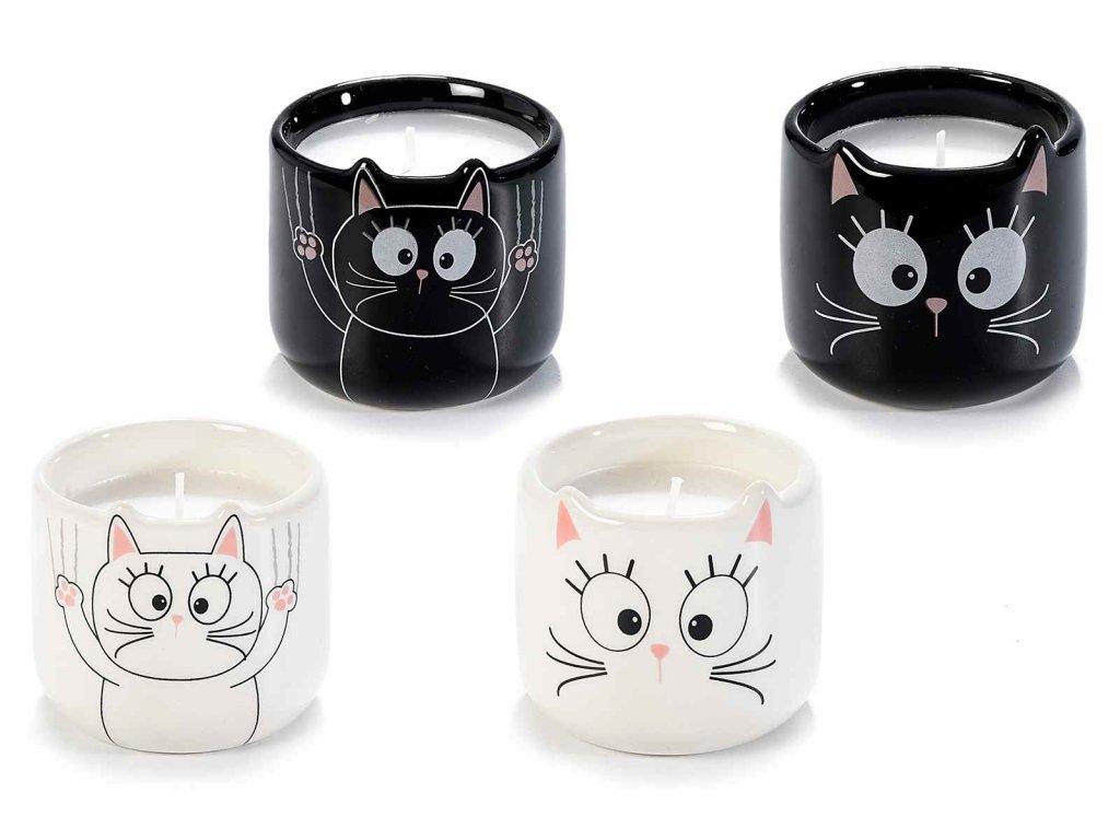 svíčka keramika kočka s kočkou kočičí