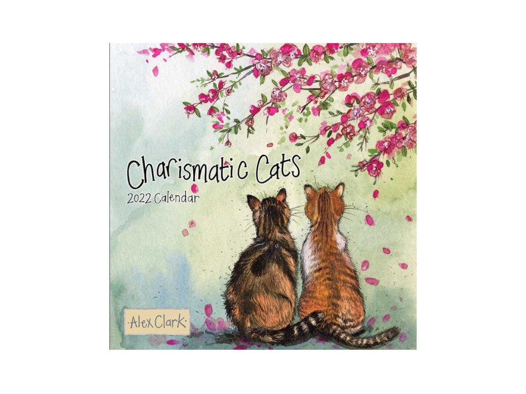 kalendář nástěnný kočka s kočkou kočičí 2022 alex clark