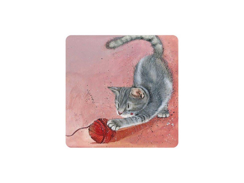 magnetka kočka s kočkou kočičí kotě klubíčko alex clark