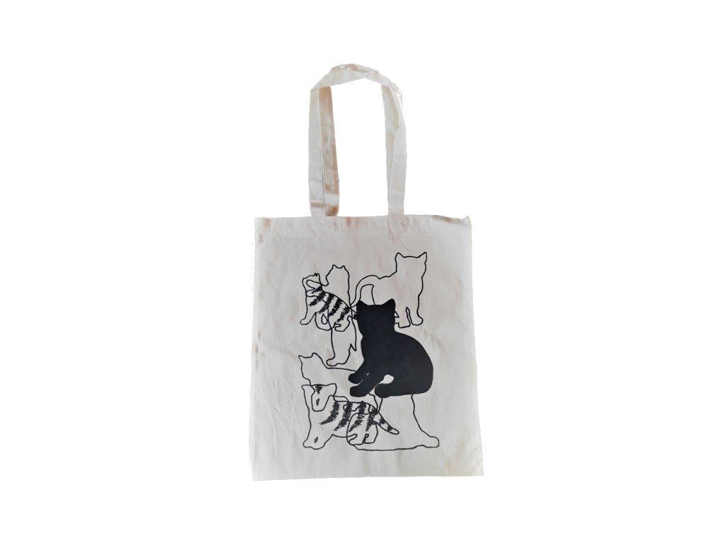 taška ekobavlna kočka s kočkou kočičí nákupní