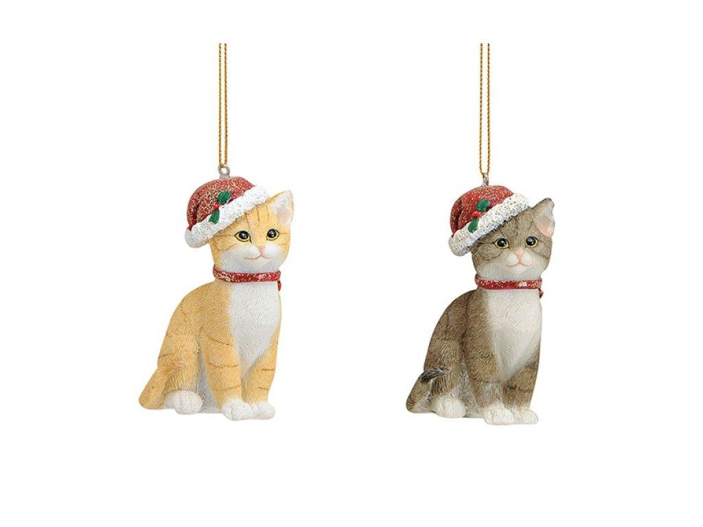 vánoční ozdoba na stromeček kočka s kočkou kočičí