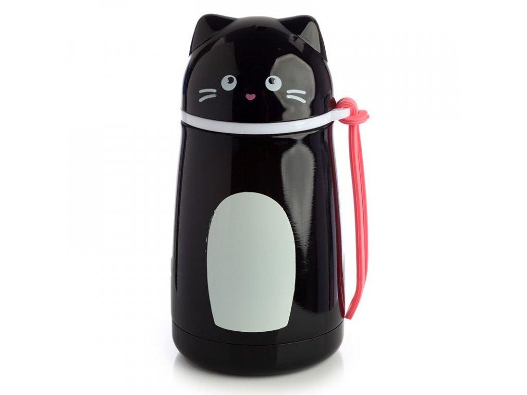 termoska láhev termo kočka s kočkou kočičí přenosná