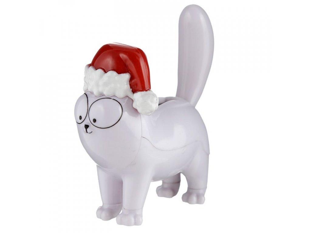 solární hračka kočka s kočkou kočičí do auta Simons cat vánoční